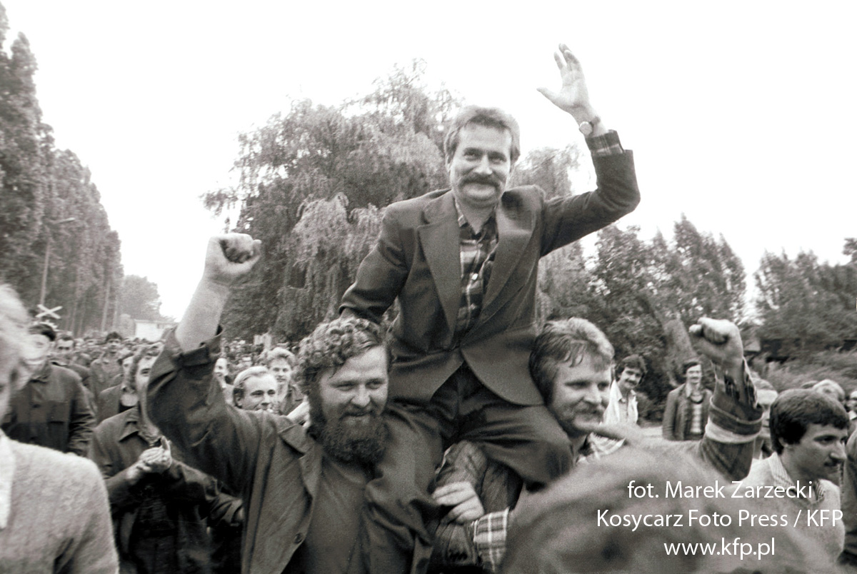 Solidarity Leader Lech Wałesa after the fall of the Iron Curtain and Communism