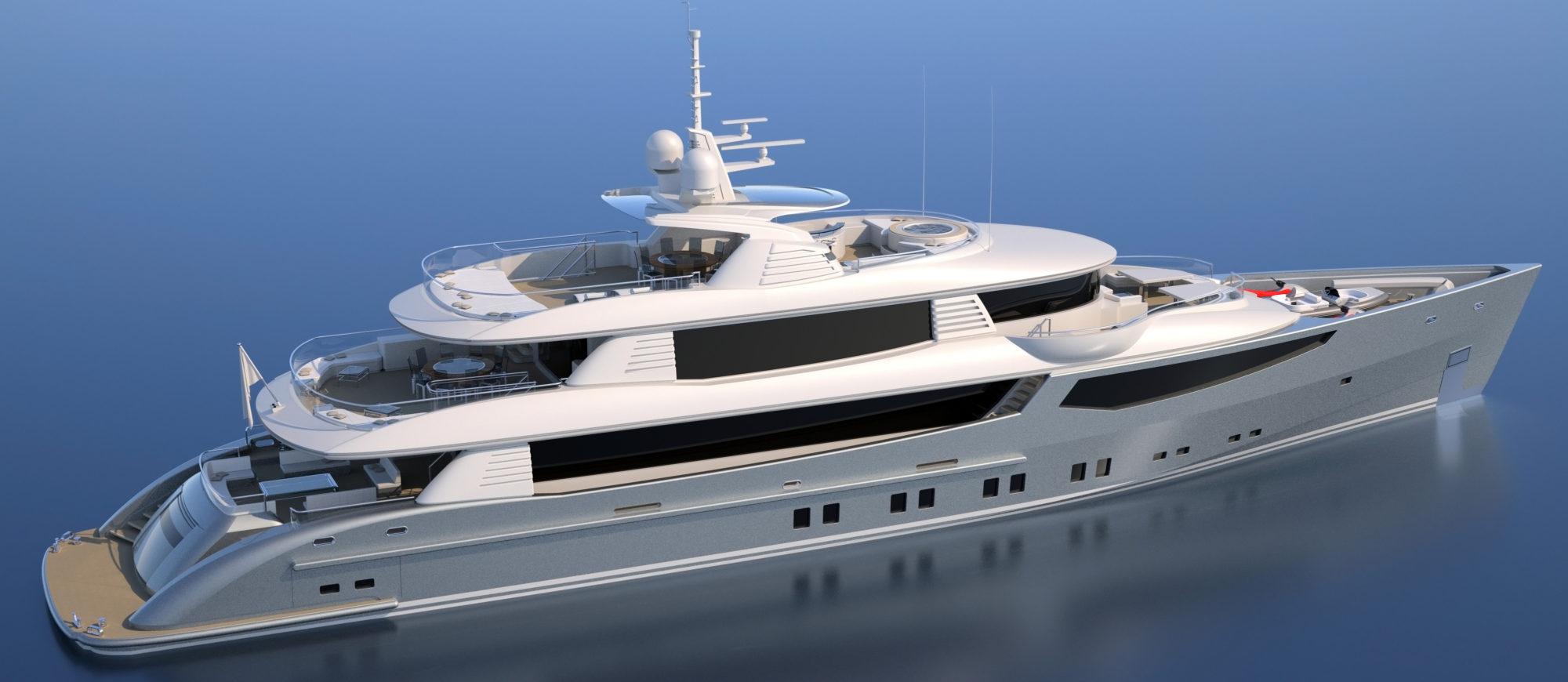 Conrad C166 Superyacht Concept Vallicelli Visualisation Exterior2