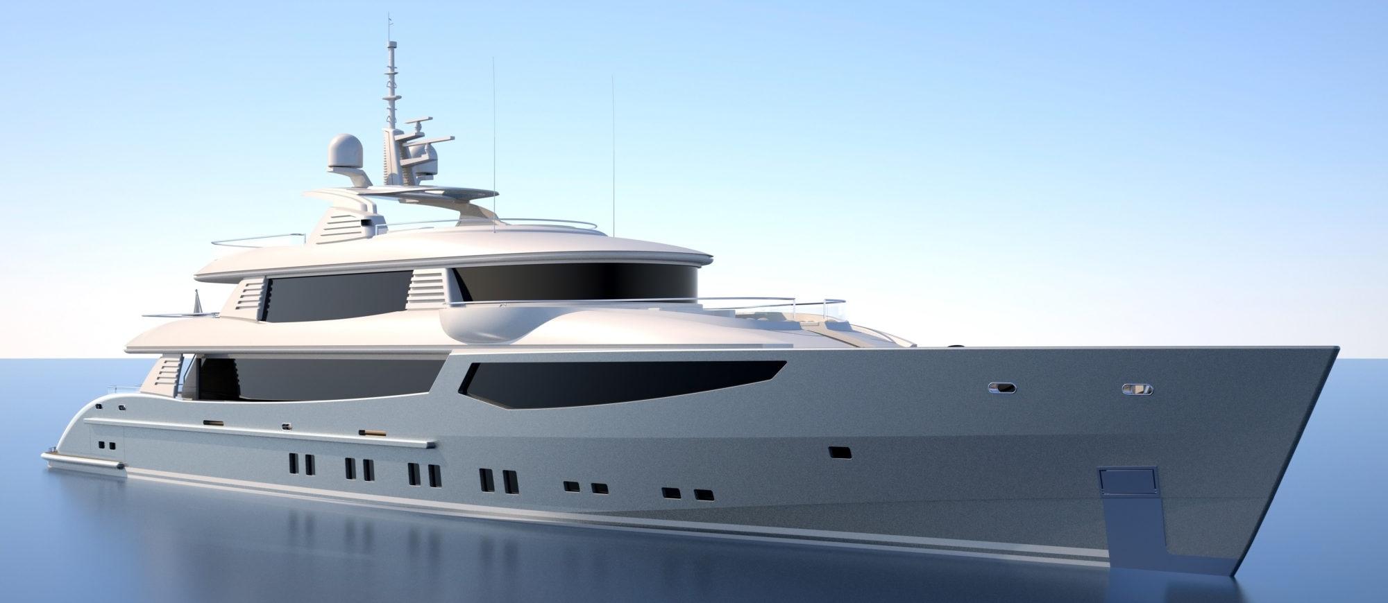 Conrad C166 Superyacht Concept Vallicelli Visualisation Exterior3