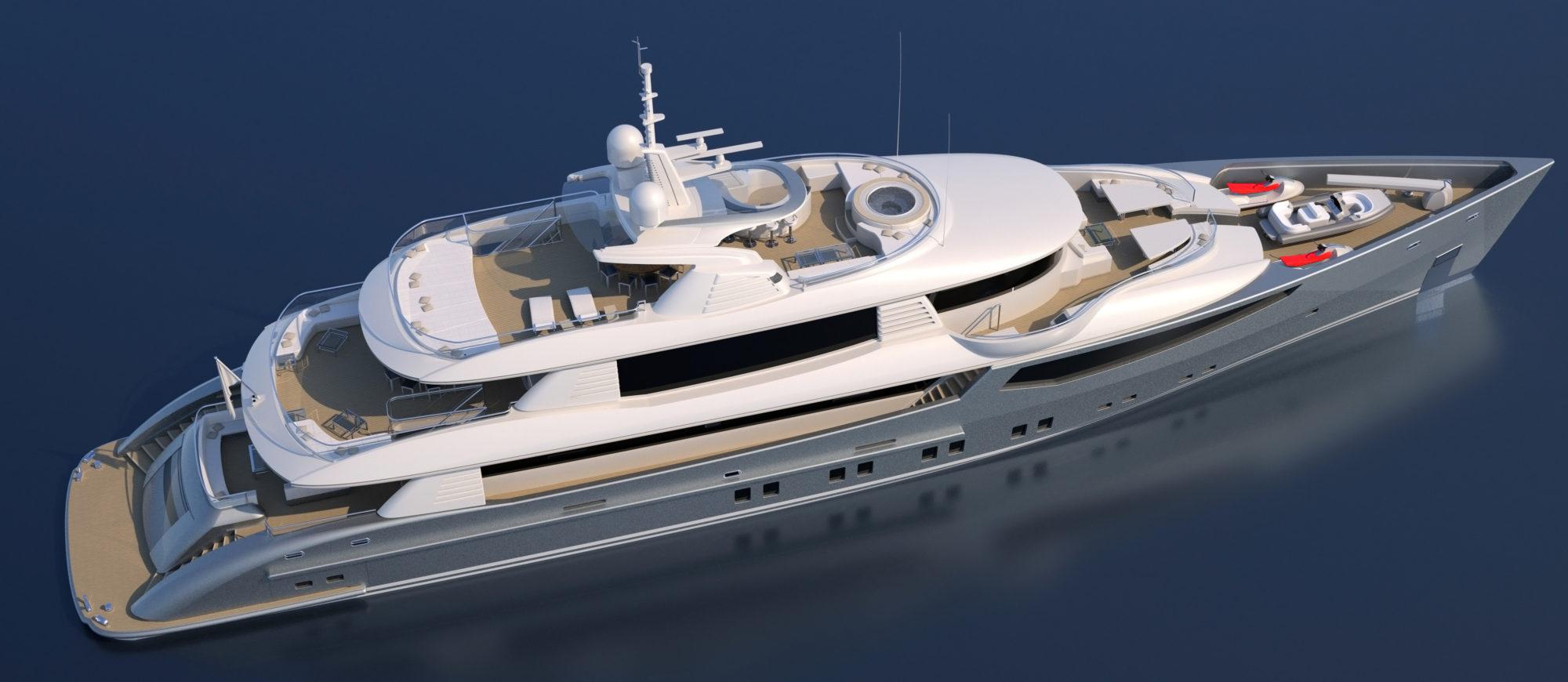 Conrad C166 Superyacht Concept Vallicelli Visualisation Exterior4