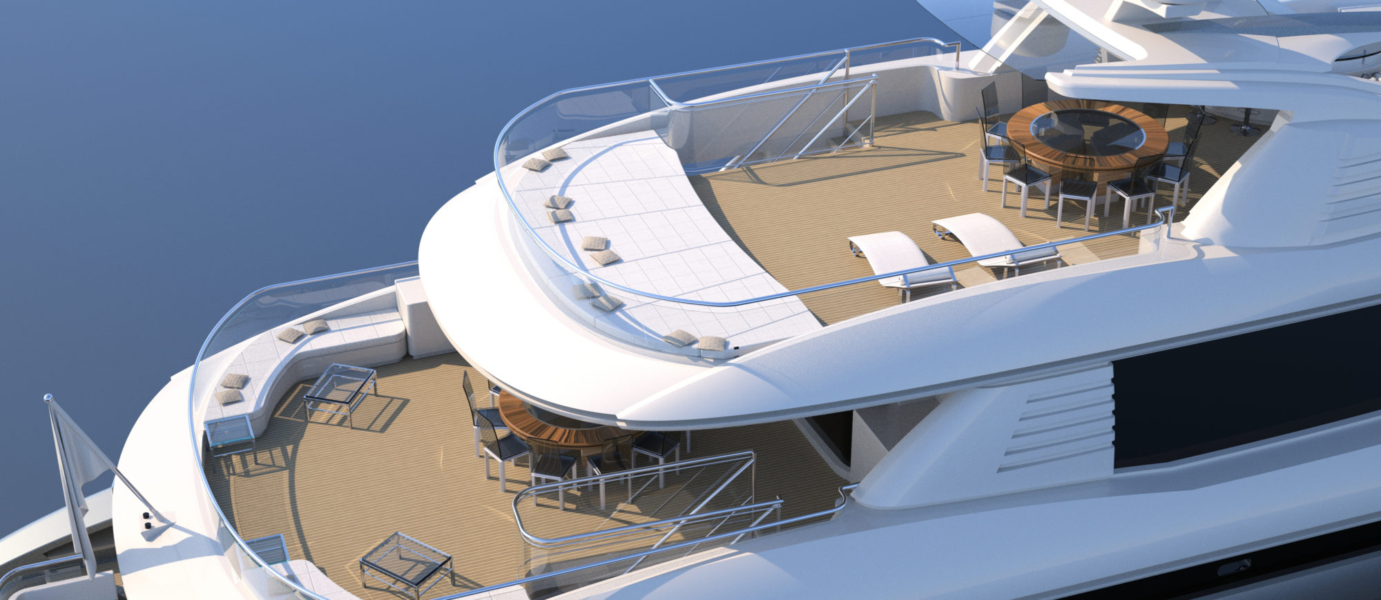 Conrad C166 Superyacht Concept Vallicelli Visualisation Decks
