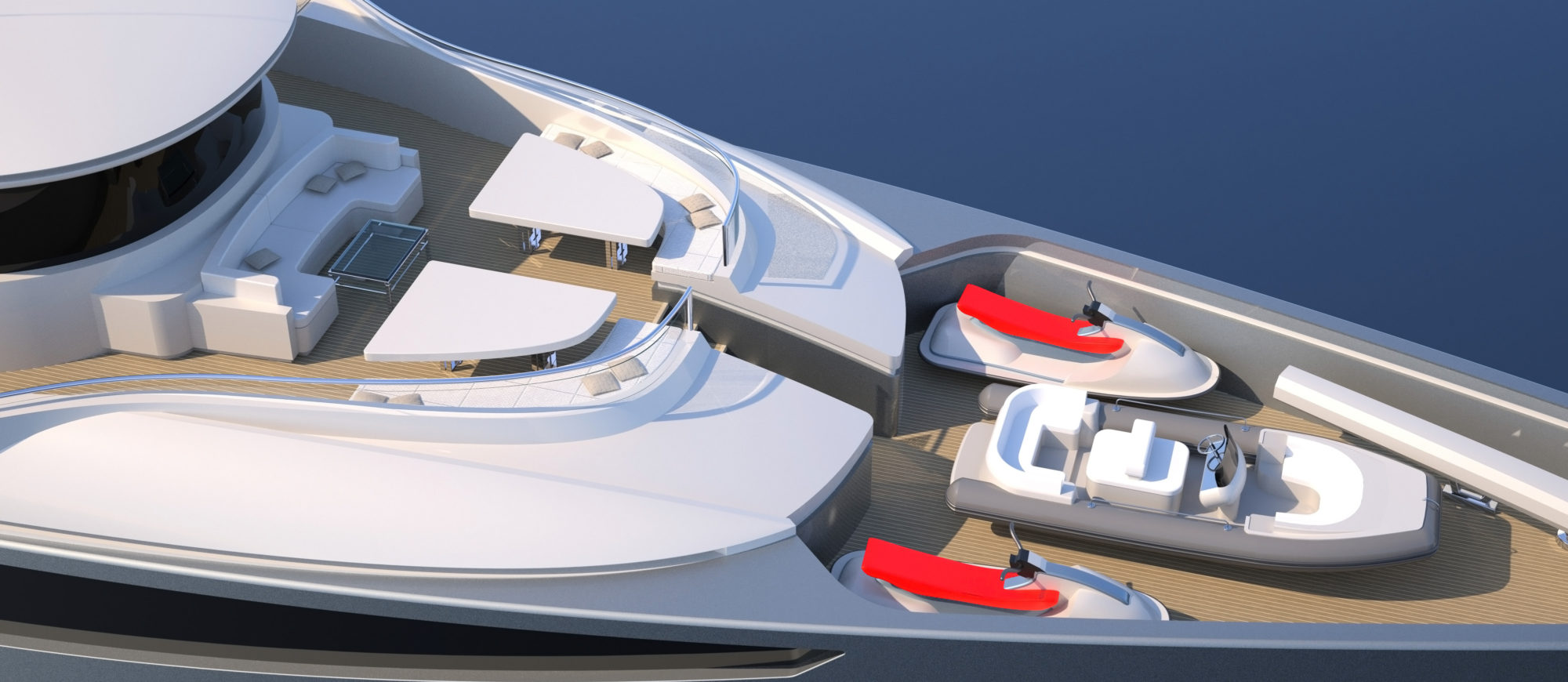 Conrad C166 Superyacht Concept Vallicelli Visualisation Bridge Deck 1
