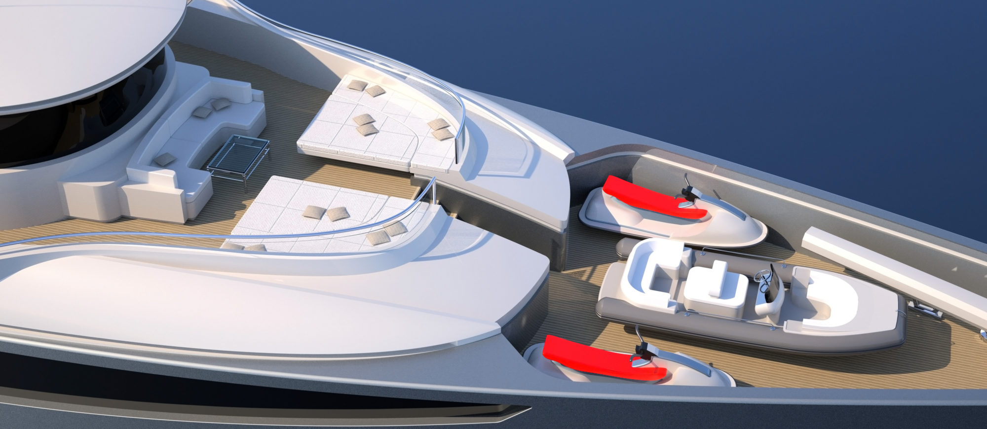 Conrad C166 Superyacht Concept Vallicelli Visualisation Bridge Deck 2