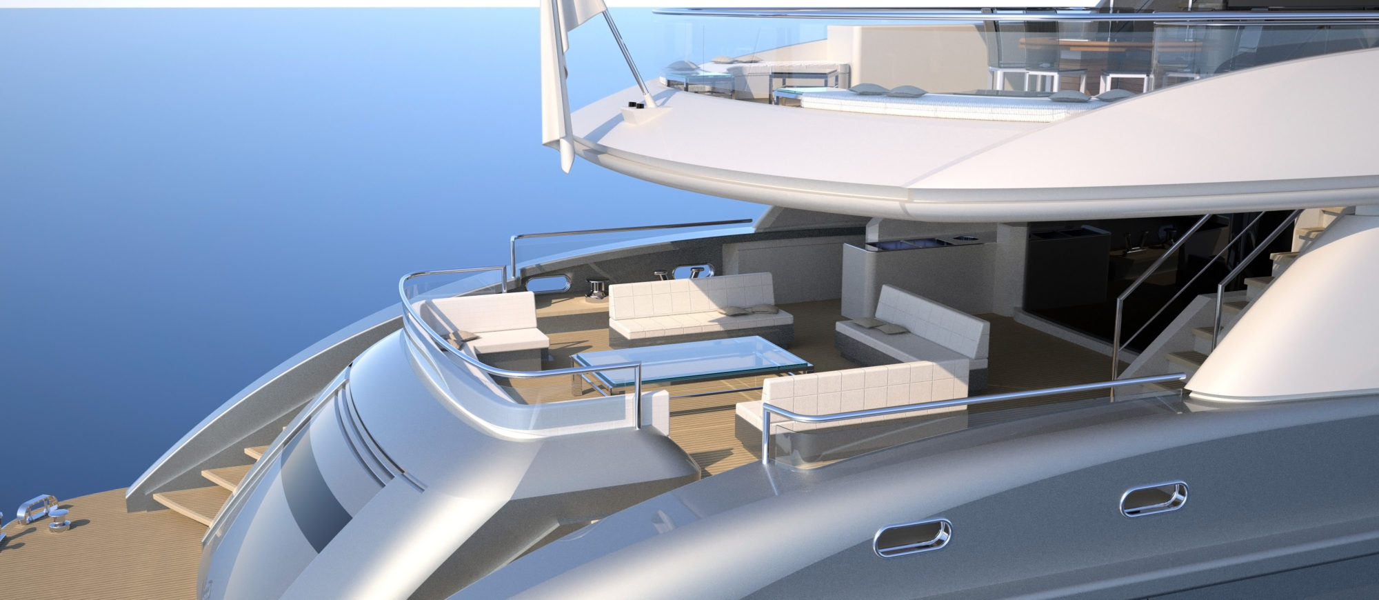Conrad C166 Superyacht Concept Vallicelli Visualisation Main Deck 2