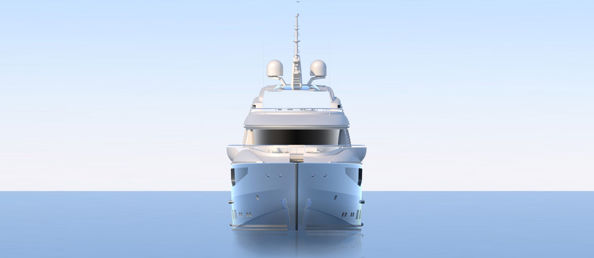 Conrad C166 Superyacht Concept Vallicelli Visualisation Front Profile