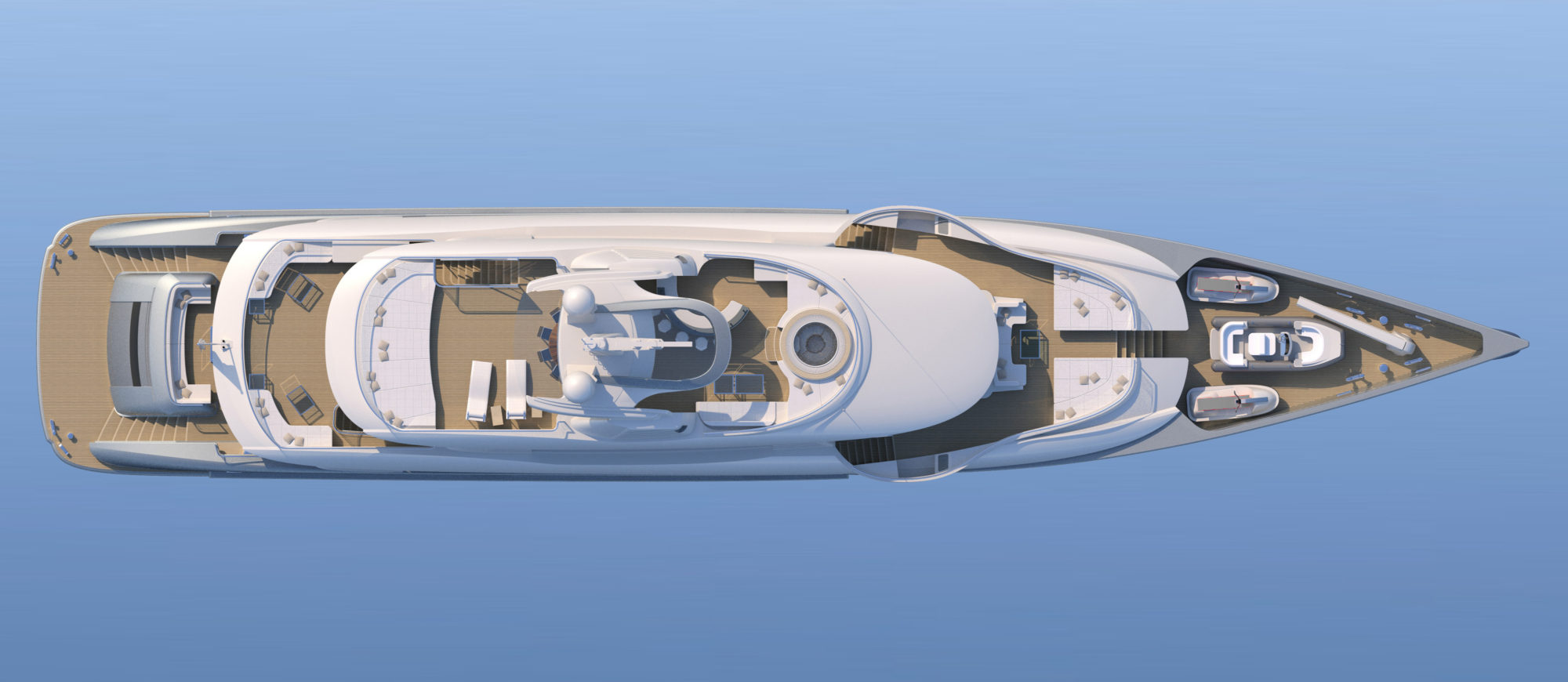 Conrad C166 Superyacht Concept Vallicelli Visualisation Top Profile