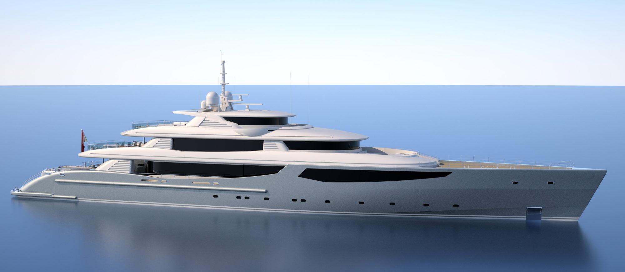 Conrad C233 Superyacht Concept Vallicelli Visualisation Exterior 1