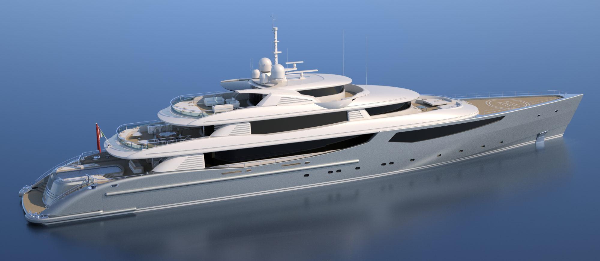 Conrad C233 Superyacht Concept Vallicelli Visualisation Exterior 2