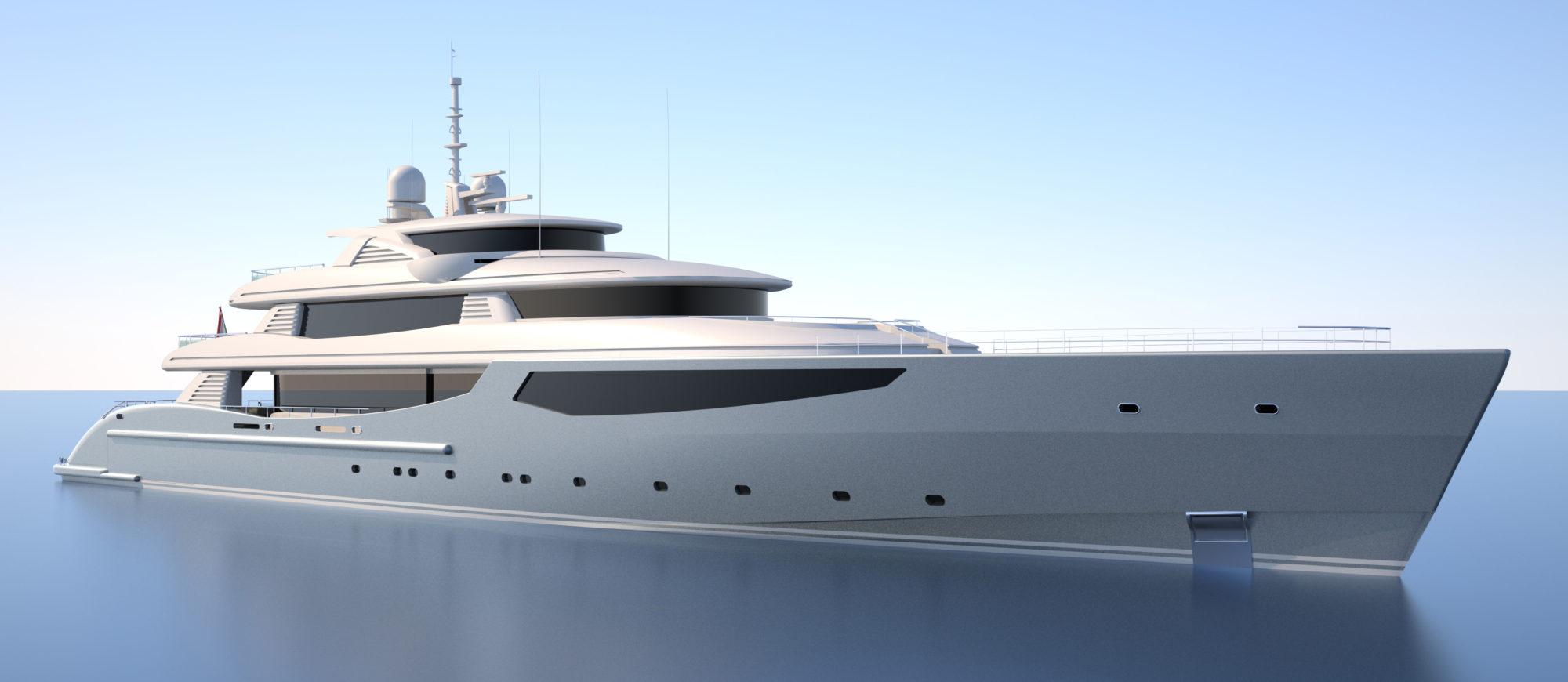 Conrad C233 Superyacht Concept Vallicelli Visualisation Exterior 3