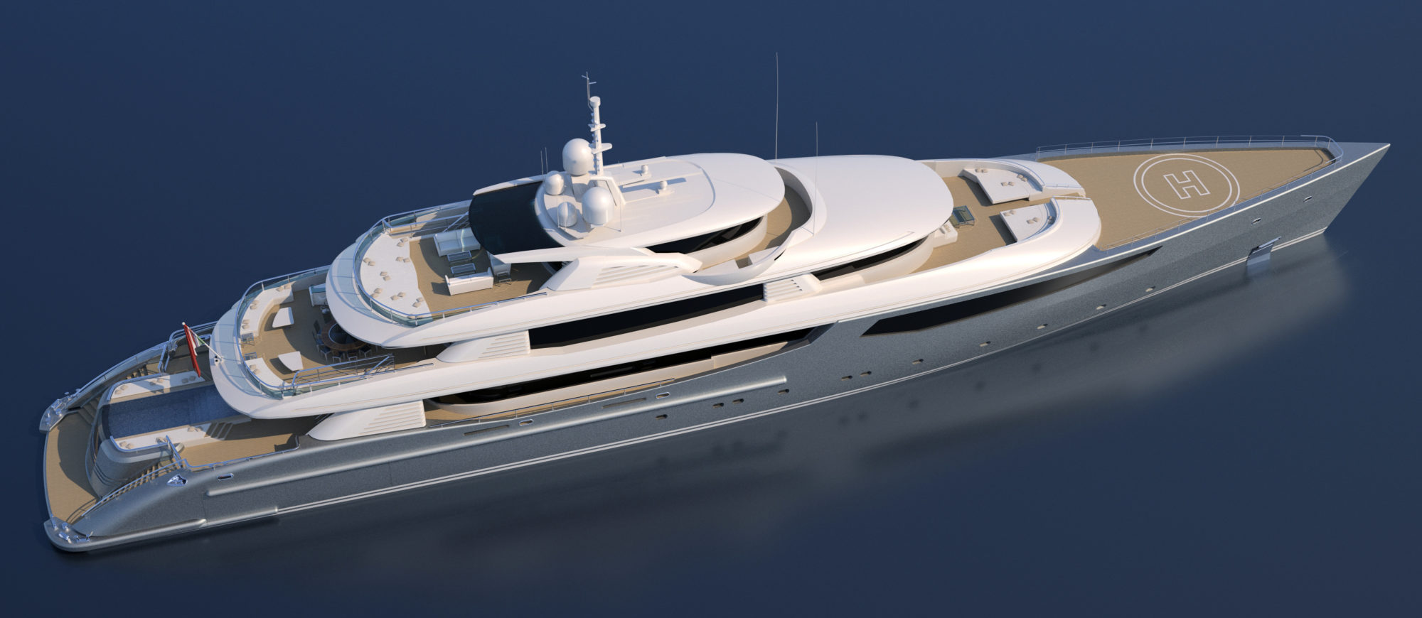 Conrad C233 Superyacht Concept Vallicelli Visualisation Exterior 4