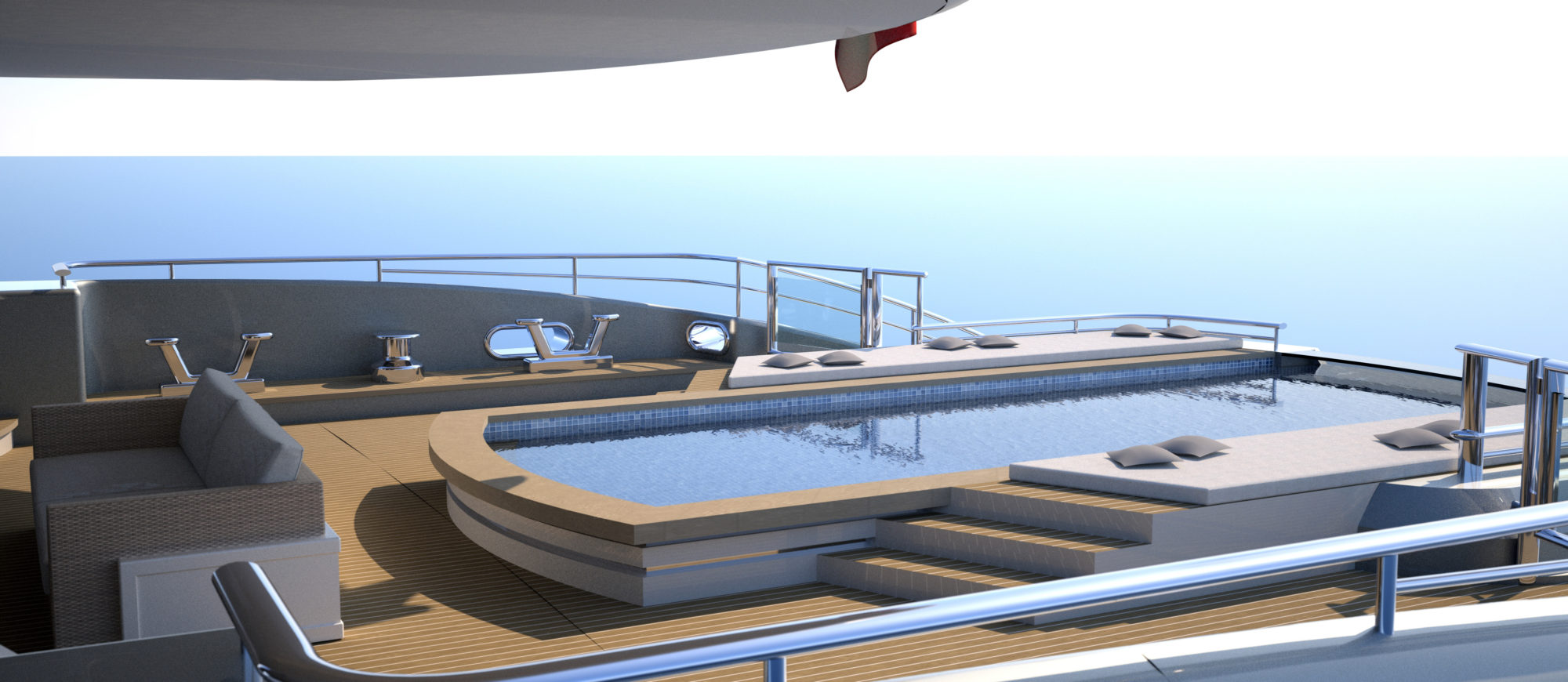 Conrad C233 Superyacht Concept Vallicelli Visualisation Main Deck 2