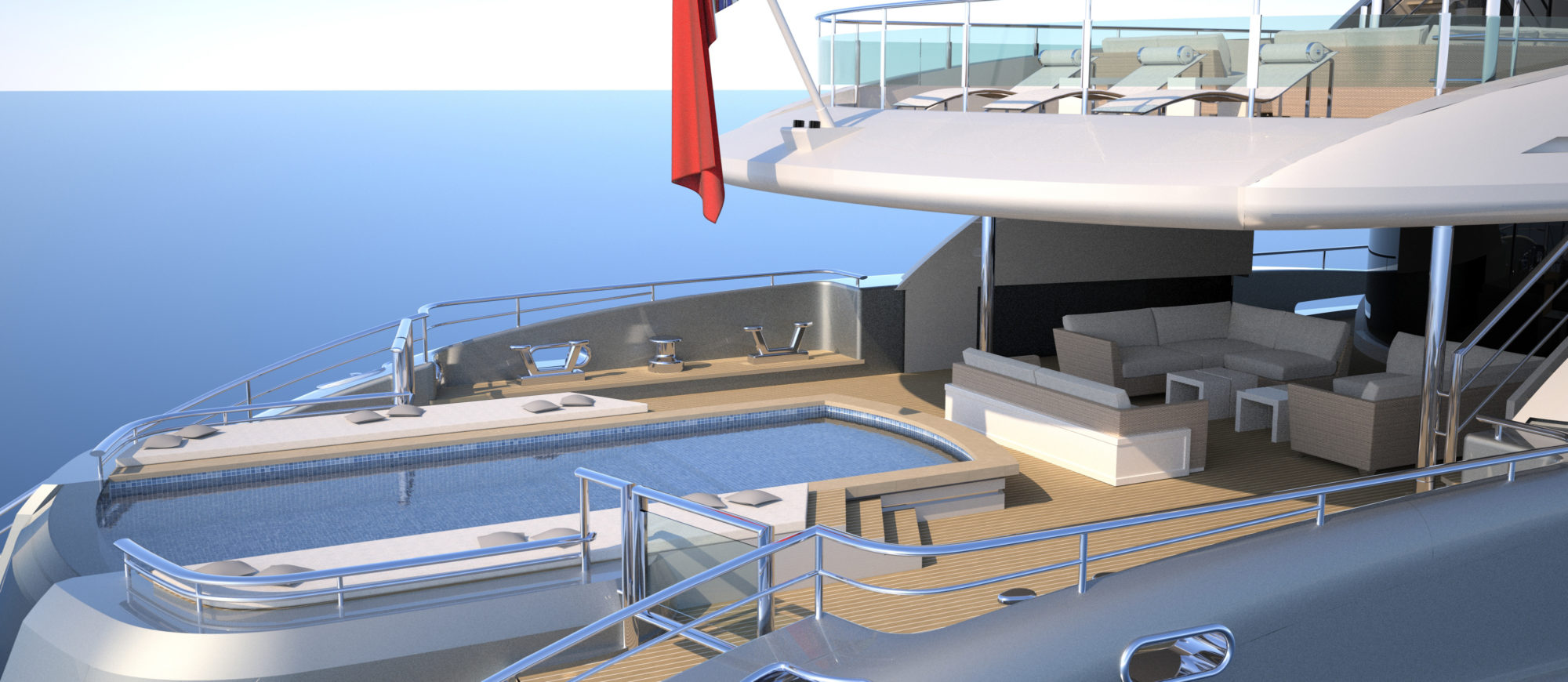 Conrad C233 Superyacht Concept Vallicelli Visualisation Main Deck 3
