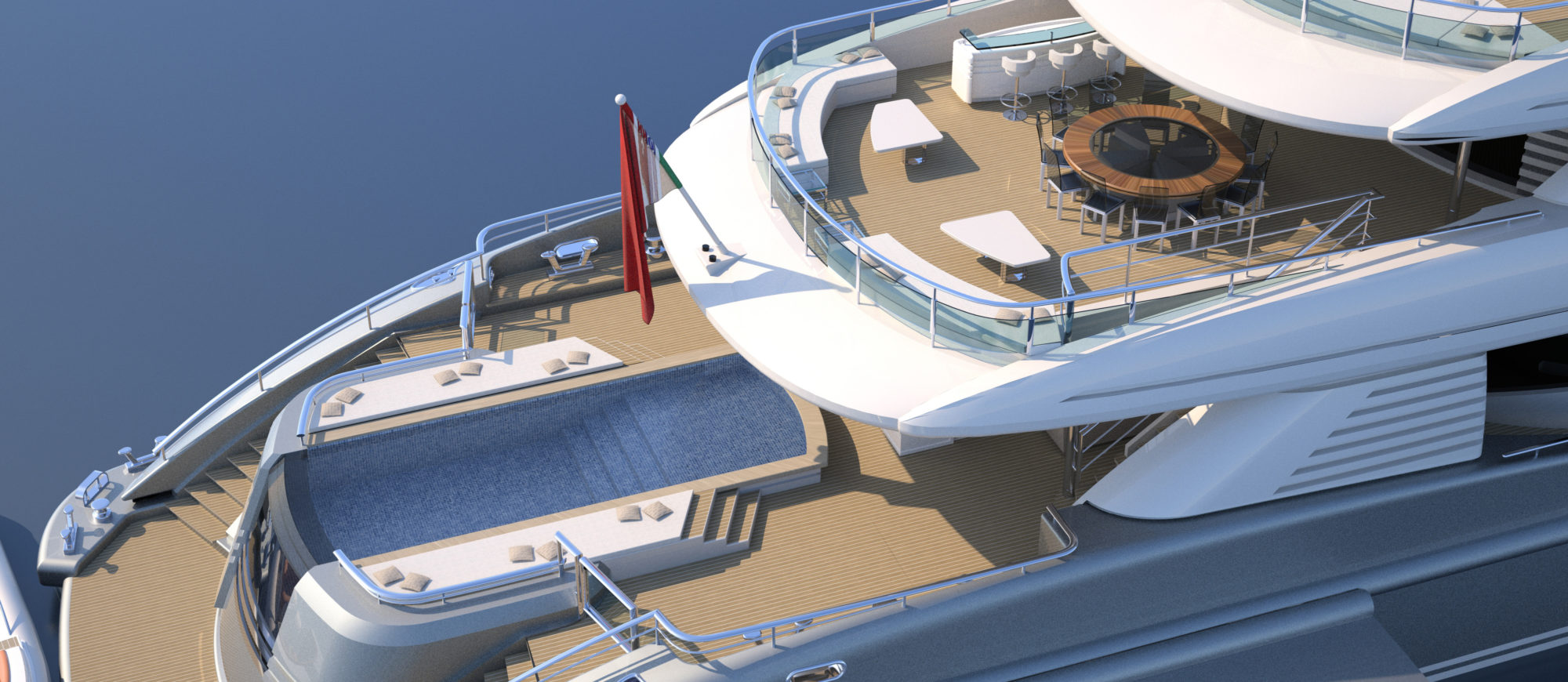 Conrad C233 Superyacht Concept Vallicelli Visualisation Aft Decks 1