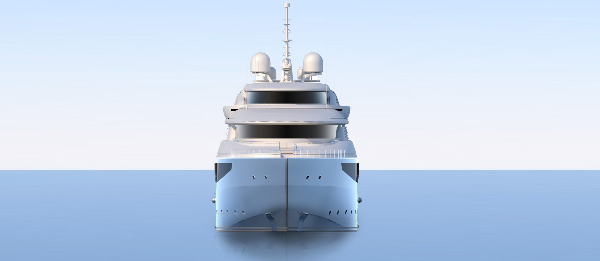 Conrad C233 Superyacht Concept Vallicelli Visualisation Front Profile
