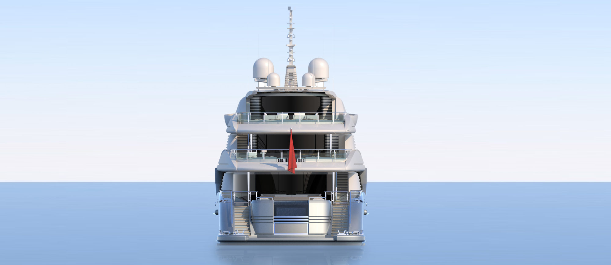 Conrad C233 Superyacht Concept Vallicelli Visualisation Rear Profile