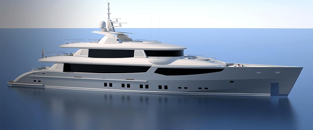 Conrad C166 Superyacht Concept Vallicelli Visualisation Exterior 1