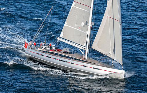 Conrad S/Y Bellkara sailing in the Baltic Sea