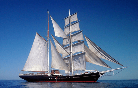 Marine Projects Ltd. built S/Y Swan Fan Makkum sailing during sea trials in the Baltic Sea.