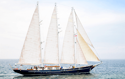 Conrad Classic Schooner Refit Malcolm Miller sailing in the Baltic Sea