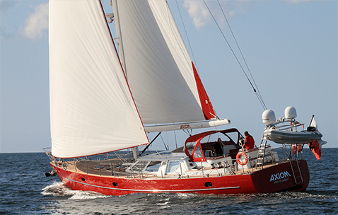Conrad 66 S/Y Axiom sailing in the Baltic Sea