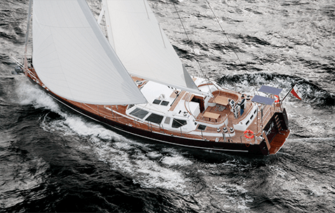 Conrad 66 S/Y Medea sailing in the Baltic Sea