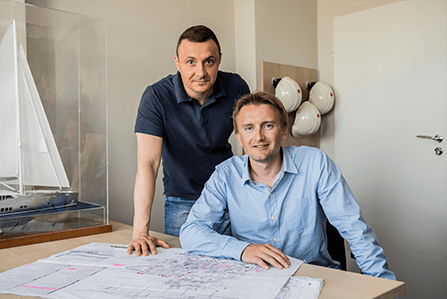 Conrad Project Managers Pawel Polak and Marcin Czarniawski
