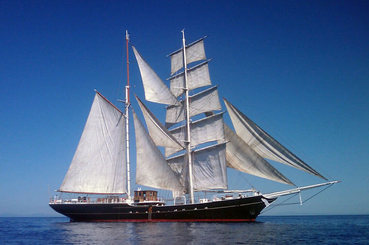 Swan Fan Makkum built by Marine Projects Ltd. in 1993 sailing in the Baltic Sea