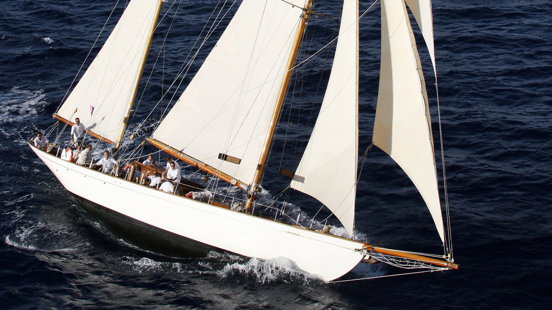 Conrad Shipyard Classic Sailing Yacht Refit Talisman Fully-Rigged Sailing