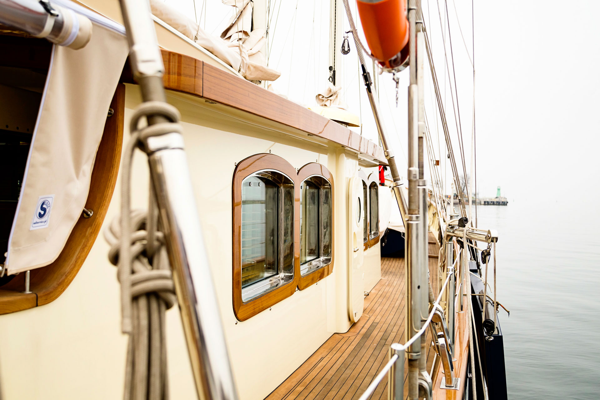 Details of Conrad S/Y Malcom Miller's completely new deck after its refit.